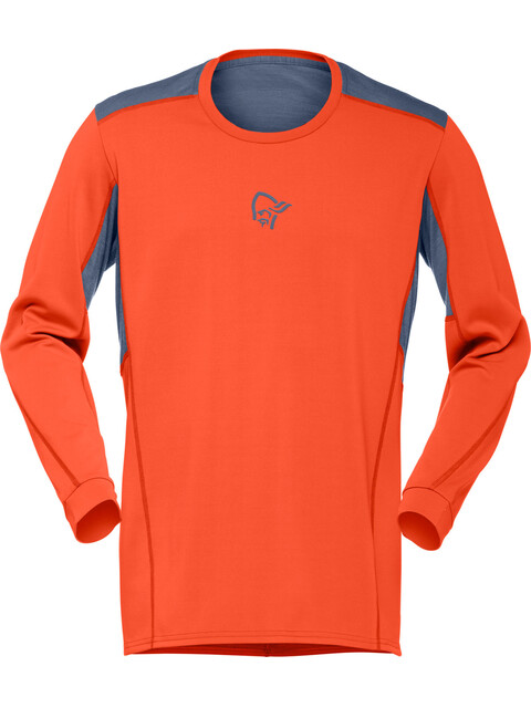 Norrøna Falketind Super Wool longsleeve Heren oranje